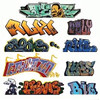 Blair Line HO 2245 Graffiti Decals Mega Set, Set #2 (9)