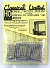 American Limited HO 9000 Streamline Passenger Car Operating Diaphragms, Gray (1 pair)