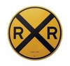 Microscale 10201 Railroad Crossing Aluminum Sign, Round
