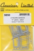 American Limited HO 9850 Athearn Genesis F-Unit Operating Diaphragms (Gray)