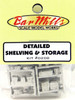 Bar Mills Scale Model Works HO 0208 Detailed Shelving and Storage