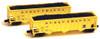 Full Throttle Z FTPZ8016-1 Ribbed 45' 100-Ton 3-Bay Hopper Set #1, Susquehanna (2-Pack)