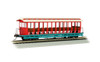 Bachmann HO 19345 Jackson Sharp Open Sided Excursion Car, Amusement Park (Cream/Red)