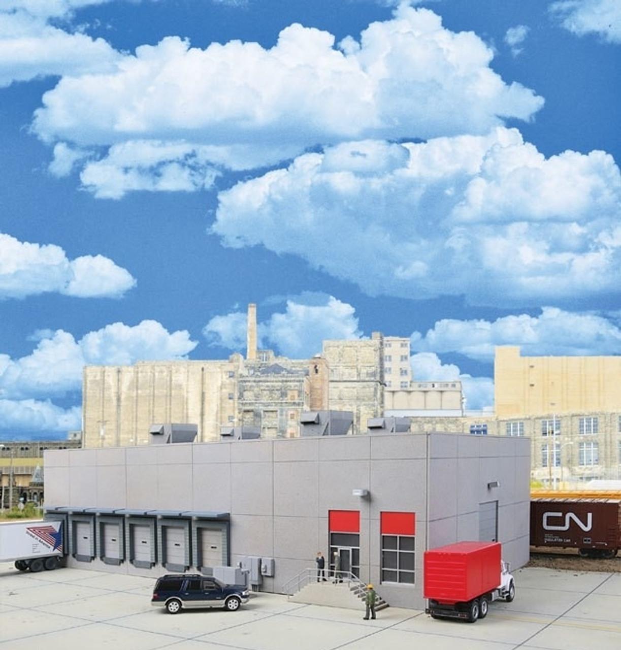 4067 Walthers Cornerstone Modern Concrete Factory Distribution Warehouse HO