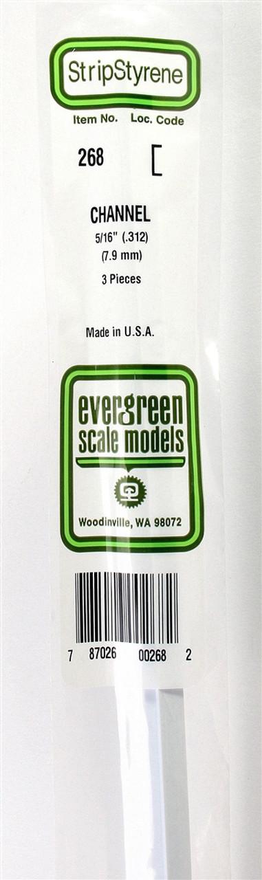 """Evergreen 268 Styrene Channel .312/"""""""
