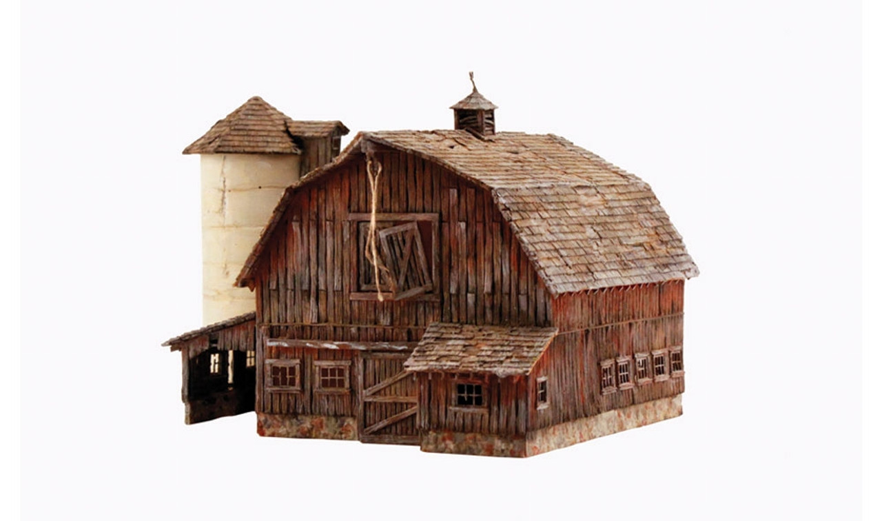 woodland scenics ho br5038 built and ready old weathered barn