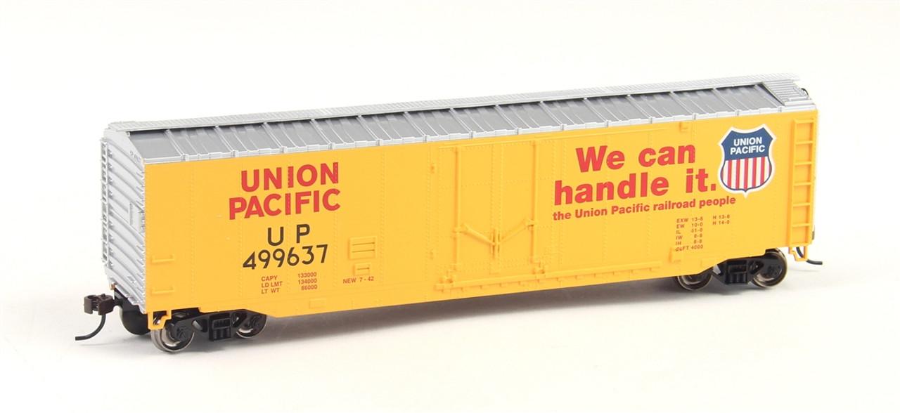 Bachmann Silver Series HO 18005 50' Plug Door Box Car, Union Pacific #499637