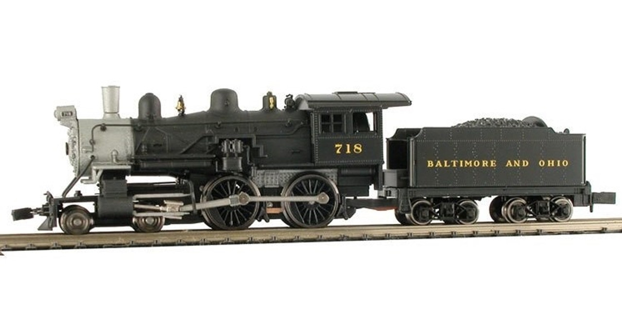 Model Power N 876231 4-4-0 American Steam Locomotive, Baltimore and Ohio  #717 (Equipped with Knuckle Couplers and Sound/DCC)