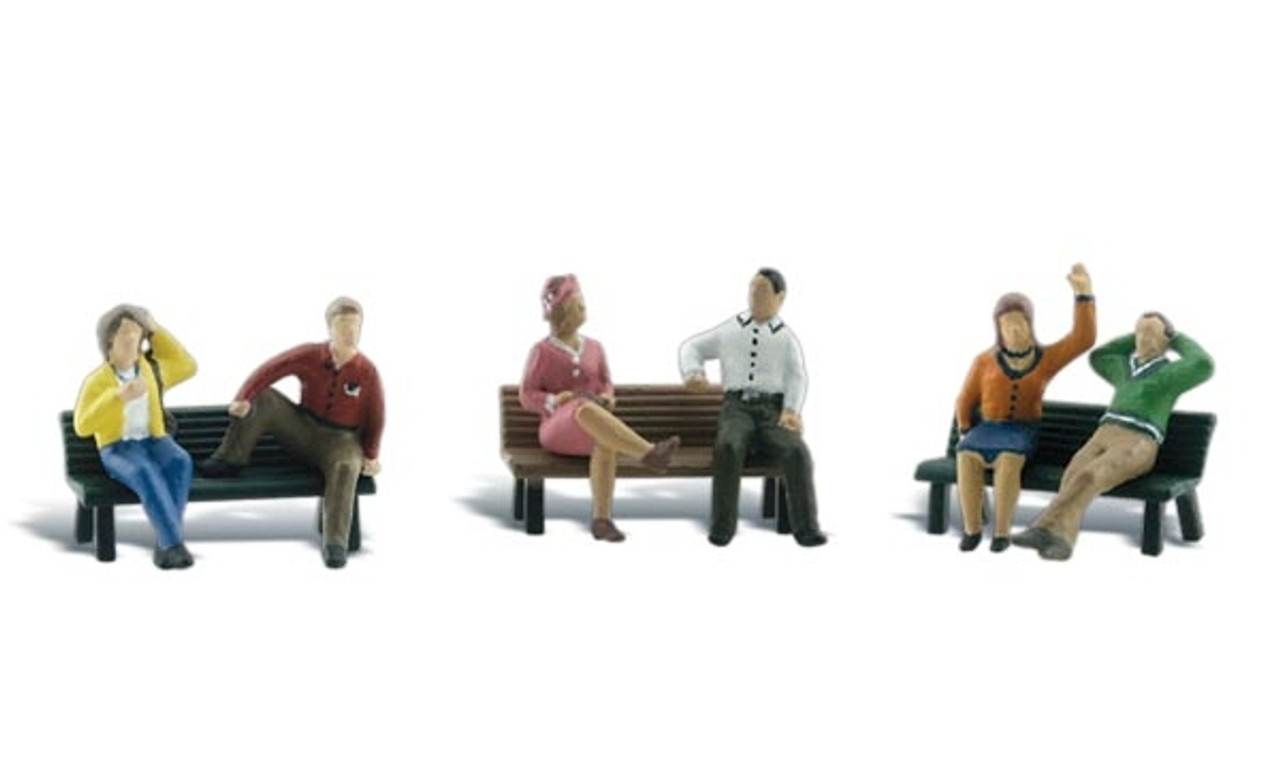 Woodland Scenics A1924 HO//OO Gauge People on Benches
