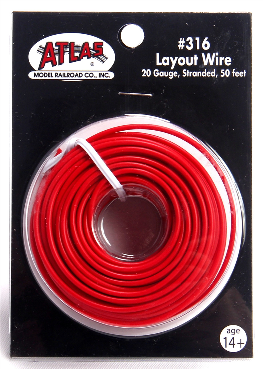 Amazing Atlas 316 50 Red 20 Gauge Stranded Layout Wire Modeltrainstuff Com Wiring Digital Resources Cettecompassionincorg