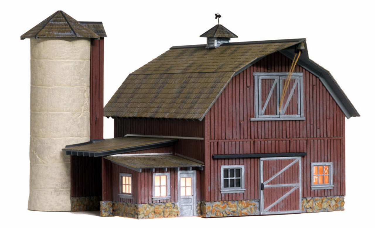 woodland scenics o br5865 built and ready old weathered barn