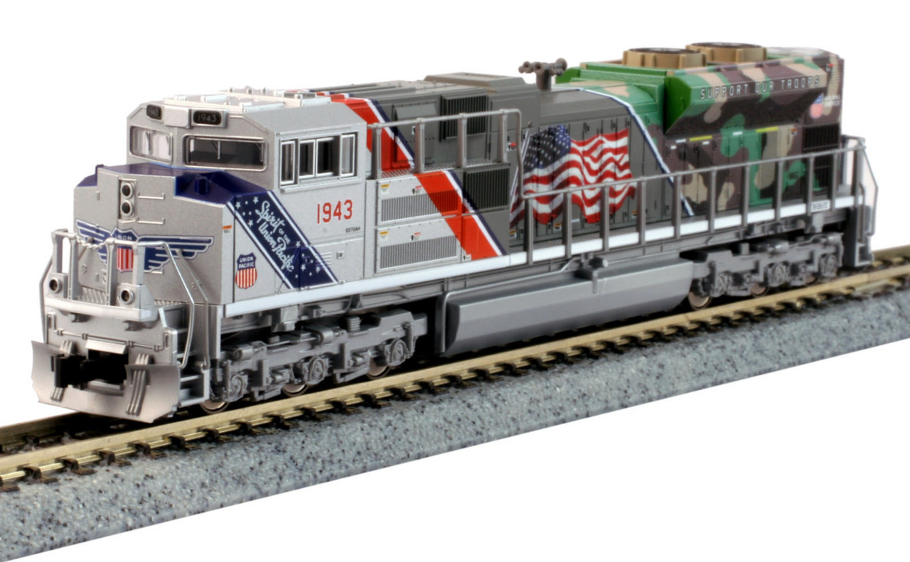 kato n 1761943 dcc sd70ace with nose headlight union pacific