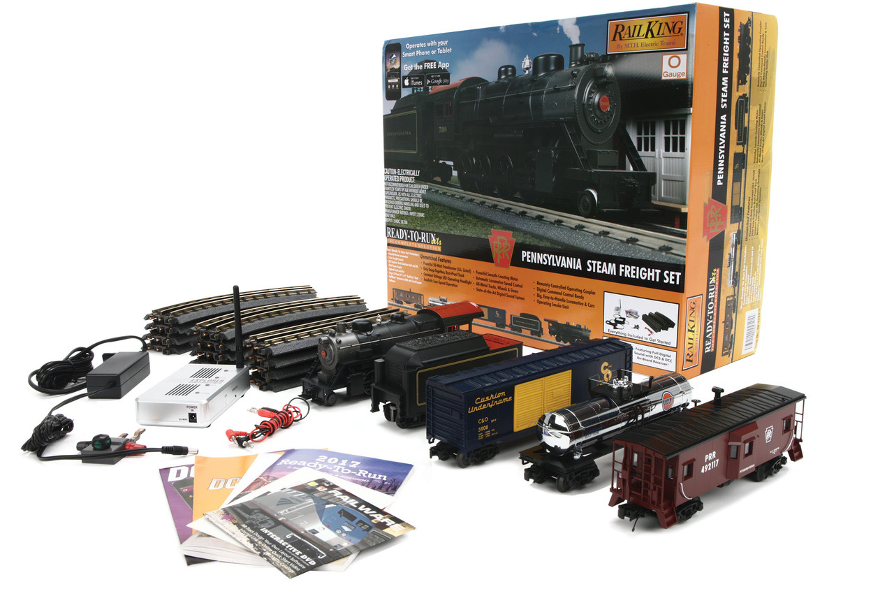 MTH RailKing O 30-4244-1 2-8-0 Steam Freight Ready To Run Train Set,  Pennsylvania Railroad (Proto Sound 3)