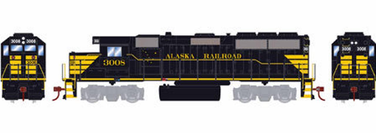 Roundhouse HO 18219 GP40-2, Alaska Railroad #3008 on railroad siding design, railroad turntable design, railroad bridge design, railroad tunnel design, residential subdivision design, railroad track design, railroad depot design, railroad punch design,