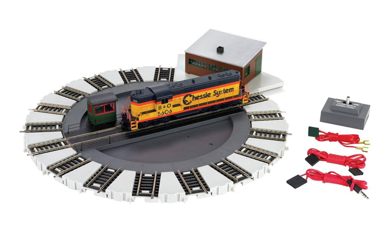 Bachmann HO 46298 DCC-Equipped Turntable with E-Z Track - ModelTrainStuffModelTrainStuff