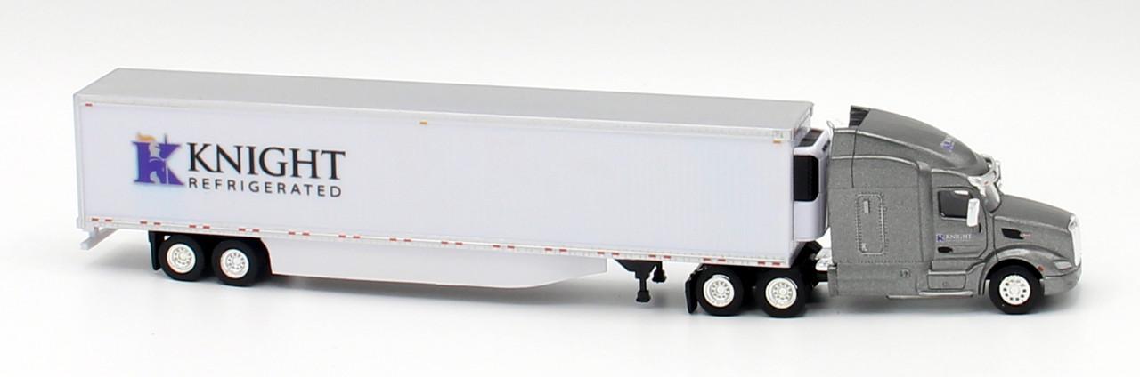 PETERBILT 579 Knight Transportation avec 53/' Reefer Trailer HO échelle 1//87 TNS108
