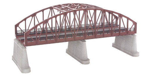 MTH RealTrax O 40-1109 2-Track Steel Arch Bridge, Rust