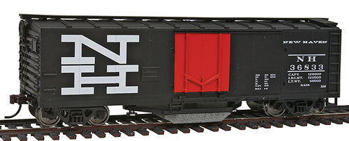 Walthers Trainline HO 931-1755 40' Track Cleaning Box Car, New Haven #36833