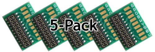 Train Control Systems 1358 MC Harness Circuit Board with 21-Pin NEM Socket (5-Pack)