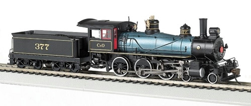 Bachmann HO 51404 Baldwin 4-6-0 Steam Locomotive, Chesapeake and Ohio #377 (DCC Sound Equipped)