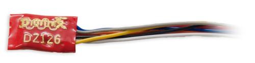 Digitrax Z/N/HO DZ126 Scale Mobile Decoder 1 Amp/1.5 Amp Peak, (2FX3 Functions, 0.5 Amp)