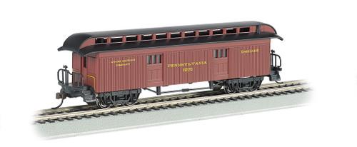 Bachmann HO 15302 1860 Baggage Car, Pennsylvania Railroad #6076