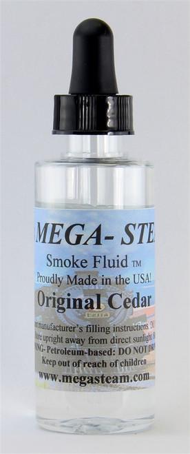 JT's Mega Steam O/HO CEDAR Smoke Fluid 2 Oz. Bottle, Original Cedar