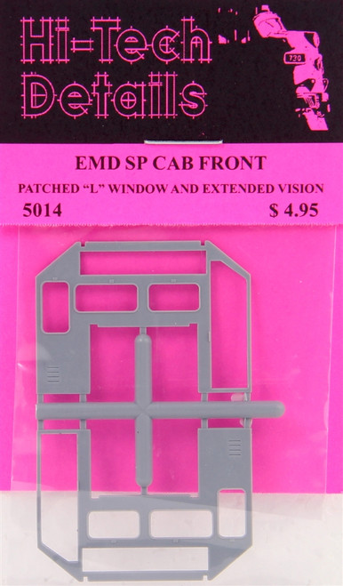 Hi-Tech Details HO  5014 EMD SP Cab Front Patched L Window and Extended Vision Window Front