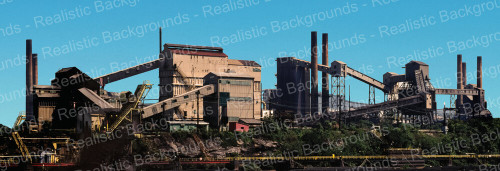 "Realistic Backgrounds 704-03 Industrial Scene 13"" x 38"""