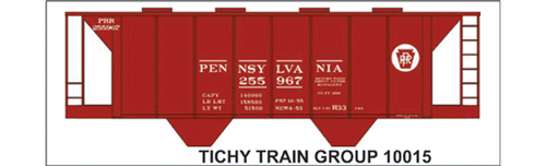 Tichy Train Group N 10015 Pennsylvania Railroad Decal Set for H33 Covered Hopper (d)