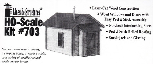 American Model Builders HO 703 Miner's Cabin Kit