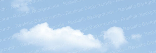 "Realistic Backgrounds 704-10 Clouds Scene B 13"" x 38"""