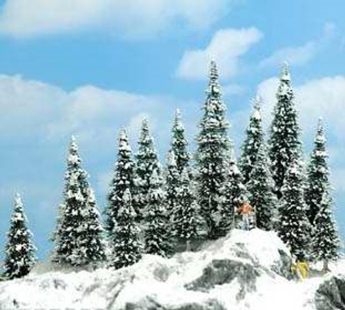 """Busch HO 6466 Snow Covered Pine Trees (2-3/8-5-3/8"""")"""