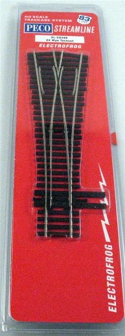Peco HO SLE8348 Code 83 Track Electrofrog #4 Wye