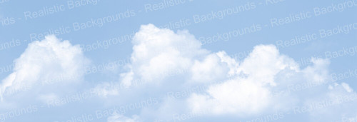 "Realistic Backgrounds 704-09 Clouds Scene A 13"" x 38"""