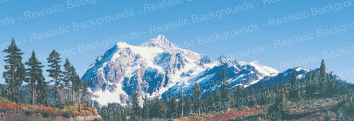 "Realistic Backgrounds 704-18 Western Mountains Scene 13"" x 38"""