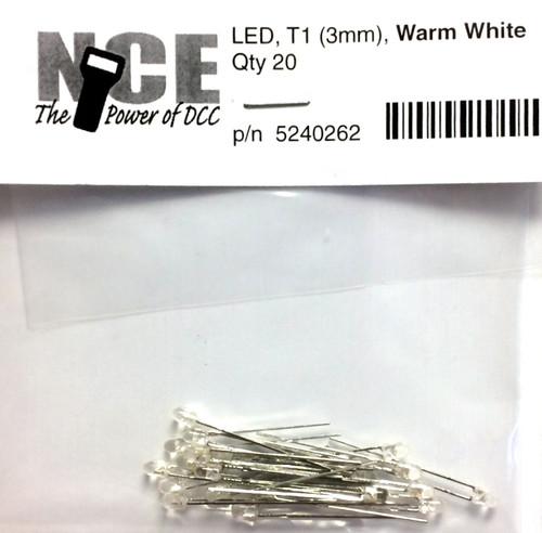 NCE 524262 T1 LED, Warm White 3mm (20)