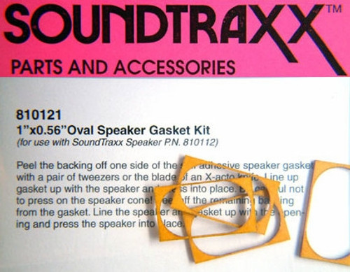 "SoundTraxx 810121 14mm x 25mm (0.551181"" x 0.984252"") Speaker Gasket Kit (package of 4)"
