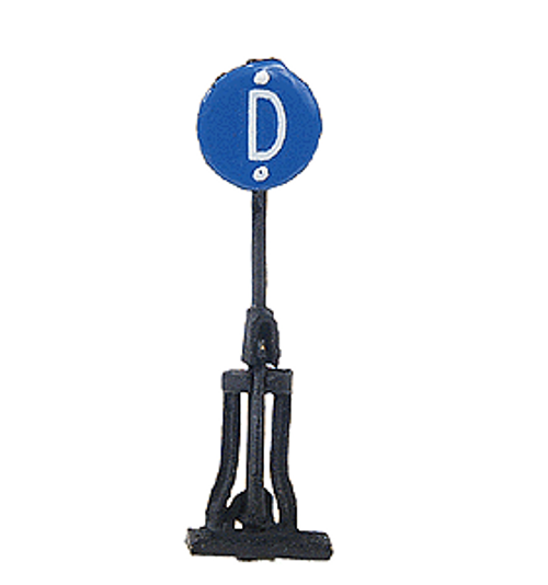 N.J. International HO 1917 Standard Star Switch Stand, Derail with Blue Target