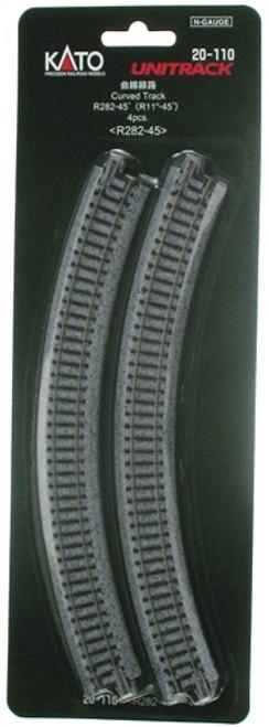 "Kato N 20110 Unitrack 11""-45-Degree Radius Curved Track (4)"