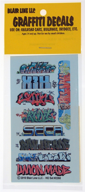 Blair Line HO 2260 Graffiti Decals Mega Set #11
