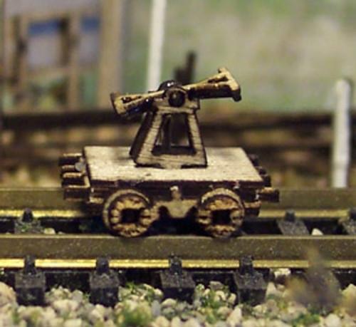 Osborn Model Kits N 3107 Railroad Hand Car Static Display Kit (2)
