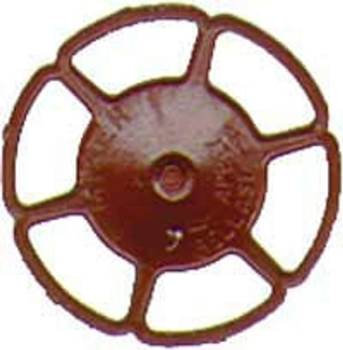 Kadee HO 2032 Miner Brake Wheels, Red Oxide (8)
