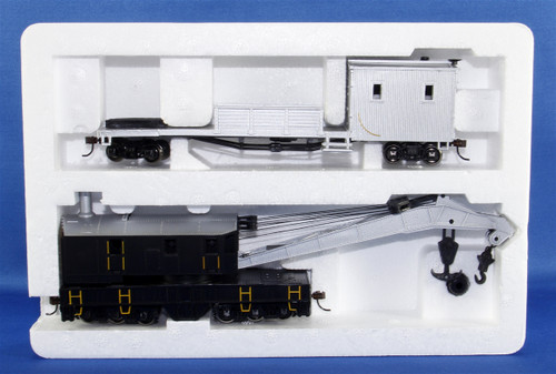Bachmann Silver Series HO 16149 250-Ton Steam Crane Car with Boom Tender, Painted and Unlettered
