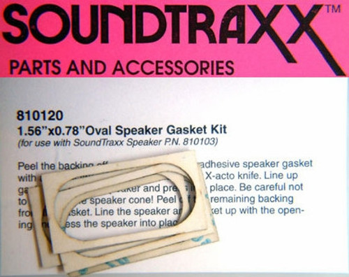 "SoundTraxx 810120 20mm x 40mm (0.787402"" x 1.5748"") Oval Speaker Gasket Kit (4-Pack)"