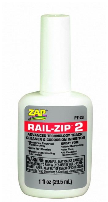 Pacer Technology, LLC PT23 ZAP Rail-Zip 2 Advanced Technology Track Cleaner and Corrosion Inhibitor (1fl oz, 29.5mL)