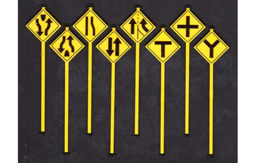 Tichy Train Group O 2074 Road Path Warning Signs 3 (8)