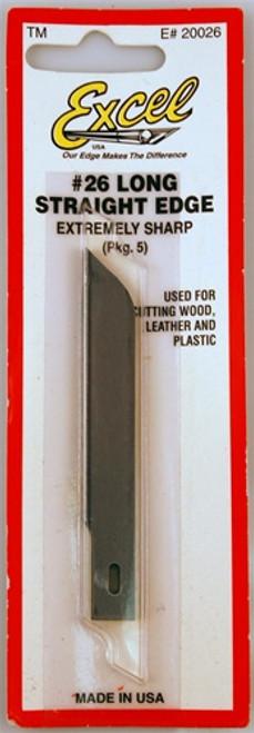 Excel 20026 #26 Long Straight Edge Blades (5)