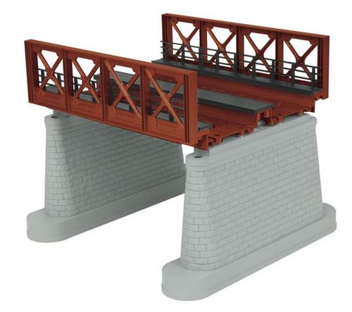 MTH RealTrax O 40-1110 2-Track Girder Bridge, Rust