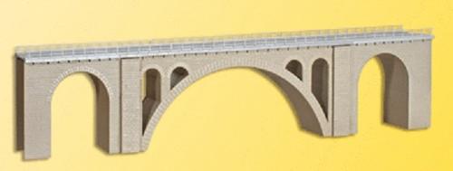 "Kibri HO 39720 Viaduct Stone Arch Bridge Single Track 23-3/8 x 2-13/16 x 4-13/16"" 58.4 x 7 x 12cm"